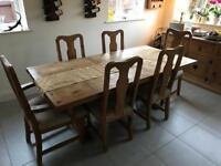 Dinning room table & chairs x6