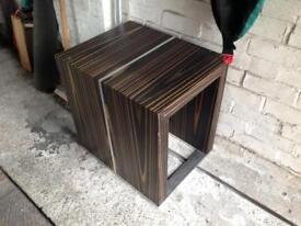 Brown dark wood coffee side table