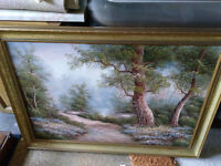 Oil on board - art on frame