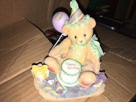 Collectible Cherished Teddy Birthday Figurine
