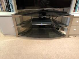 Glass tv stand only 6 months old selling as moving £25 immaculate from smoke free home