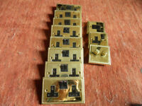 Brass Georgian Plug Sockets Bundle/lot