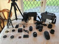 Olympus E520 10.0MP DSLR Camera WITH 14-42mm, 40-150mm, 35mm macro & 70-300mm Lenses