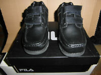 fila childs size 13 boys school shoes black leather brand new boxed and unused - £12 pick up only