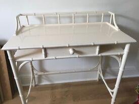 1980s Harrods white mock-bamboo dressing table