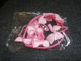 pink hair band set