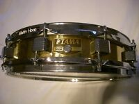 """Tama PM343 Power Metal brass piccolo snare drum 14 x 3 1/2"""" - Japan '90s"""