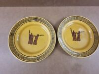 2 x Extremely Rare Royal Doulton Plates - Witches Pattern -