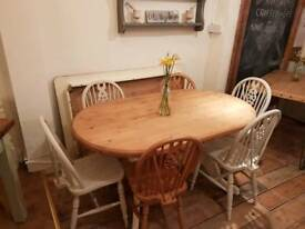 Pine oval table