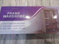 Double Modular Metal Frame Wardrobe
