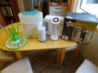 BUNDLE Tommee Tippee Closer To Nature Perfect Prep Machine, Avent Steamer, Bottle Dryer & Warmer