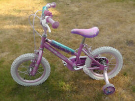 "Disney Princess 14"" Child's Bicycle with Stabilisers"
