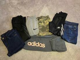 Boys trouser bundle x7 size 9-11 Nike Adidas Next