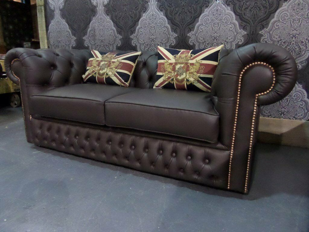 Sensational Stunning As New Chesterfield 2 Seater Brown Leather Sofa Uk Delivery In Whickham Tyne And Wear Gumtree Download Free Architecture Designs Scobabritishbridgeorg