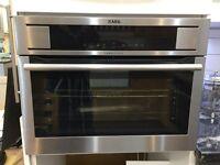AEG Compact Height Multifunction Single Oven Stainless Steel KE8404101M