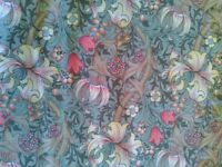 Sanderson Golden Lily Minor (Green) Hand Sewn Curtains - Excellent Condition