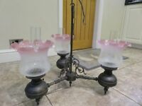Lovely reproduction victorian 3 arm light fitting in excellent condition