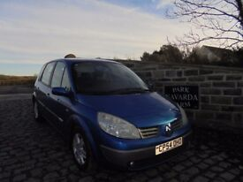 Renault Scenic VVT Dynamique In Blue, 2004 54 reg, Service History And Service Receipts,