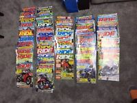 HUGE HAUL - DOZENS OF RIDE MOTORCYCLE MOTORBIKE MAGAZINES - FREE !!! WARMLEY BS30 AREA BRISTOL