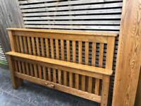 Rustic Solid Oak king size bed frame