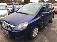 2009/09 VAUXHALL ZAFIRA 1.6 LIFE,METALLIC BLUE,7 SEATER,LOOKS AND DRIVES REALLY WELL