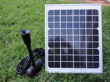 Huge 8W Solar Panel POND WATER Fountain SOLAR PUMP P009 Athelstone Campbelltown Area Preview
