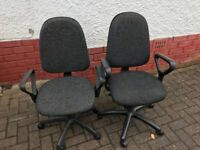 Computer chairs - ageing but still functional