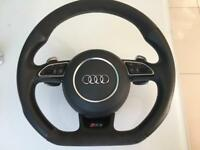 Audi RS3 flat bottom steering wheel with airbag