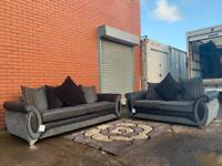 Sold Grey & Black dfs sofas delivery 🚚 sofa suite couch furniture