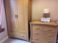 Mamas & Papas 'Ocean' Wardrobe in Solid Oak – Excellent Condition £250