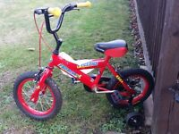 cyclone probike Childs bike with stablisers
