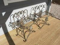 Wrought iron seats