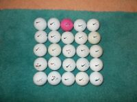 25 x NIKE GOLF BALLS - Good, clean condition.
