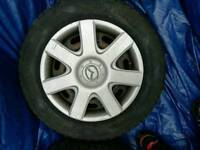 4 tyres with wheels 195/65r15