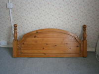 Pine headboard for double bed