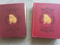 PUNCH- 1964 complete gold embossed bound in 2 volumes-satirical magazine
