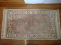 Large Chinese Sculptured Rug.