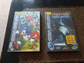 Sega Saturn Games: Sonic R and Fighters Megamix