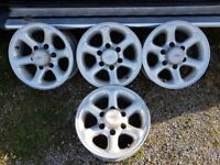 """Set of 15"""" 5 star ford alloy wheels"""