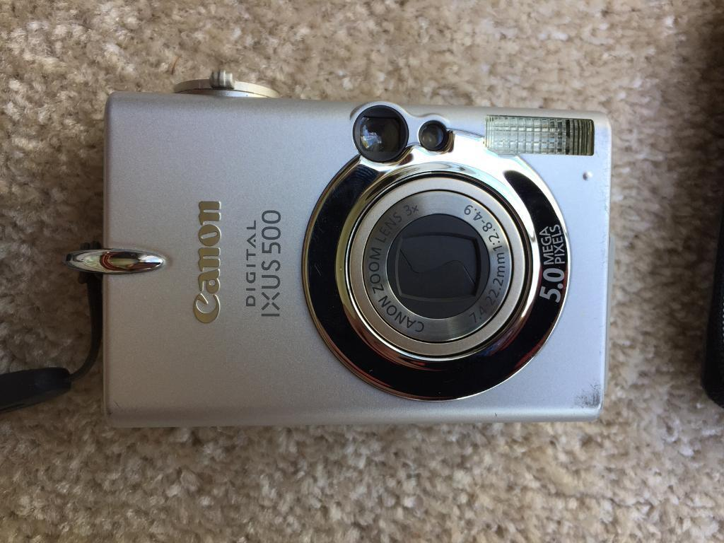 Digital Camera canon ixus 500, with user guide, Case, Cable, Batteries &