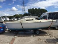 18 ft micro gem sailing boat project inc mast sails outboard open to offers
