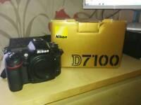 Nikon D7100 24.3 megapixel dslr with 18-55mm kit lense.
