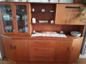 Dining sideboard with display cabinet and drinks cabinet