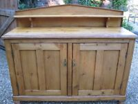 ANTIQUE PINE CHIFFONIER / SIDEBOARD / DRESSER. Delivery poss. ALSO OLD CHURCH PEWS & CHAIRS.
