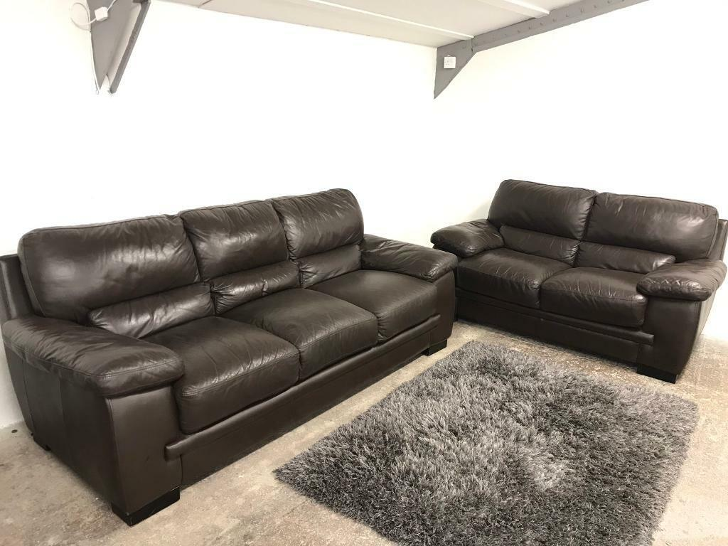 Astounding Reids Large 3 2 Real Large Luxury Brown Leather Sofas Suite In Belfast City Centre Belfast Gumtree Onthecornerstone Fun Painted Chair Ideas Images Onthecornerstoneorg