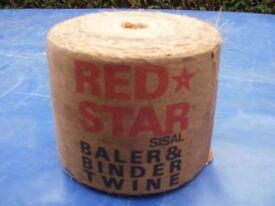 Vintage Red Star Sisal Bailer Twine