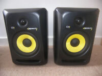 KRK ROKIT 6 G3 ACTIVE STUDIO MONITORS. COMES WITH ISOPADS AND BALANCED CABLES.