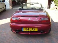 G4LAX Number plate plus MGF car (SORN)