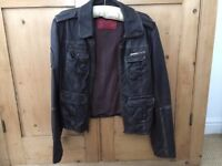 Original SuperDry Women's Genuine Leather Biker Jacket