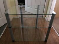 """Glass tv stand, for tv up to 28"""""""